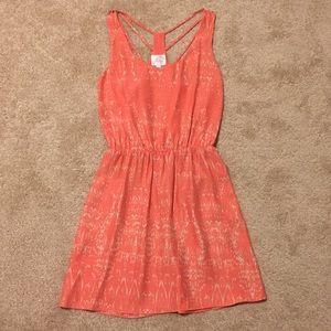 Parker Coral Silk Sundress!!